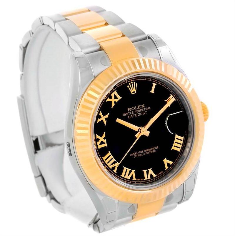 Rolex Datejust II Mens Steel 18K Yellow Gold Watch 116333 Unworn SwissWatchExpo