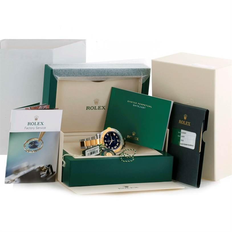 10316 Rolex Datejust II Mens Steel 18K Yellow Gold Watch 116333 Unworn SwissWatchExpo