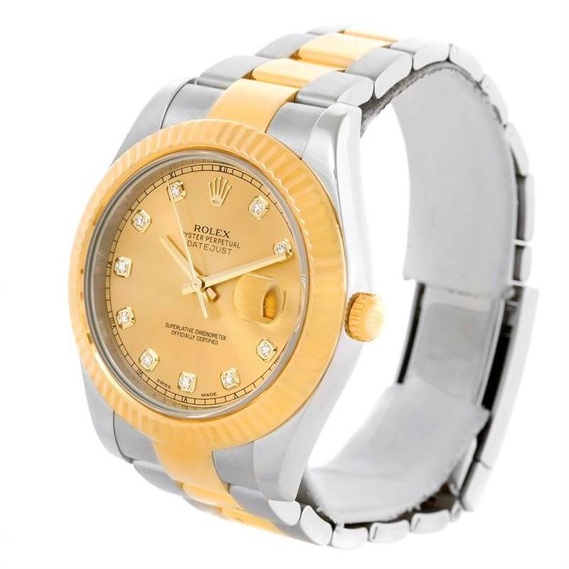 Rolex Datejust II Mens Steel 18K Yellow Gold Watch 116333 SwissWatchExpo