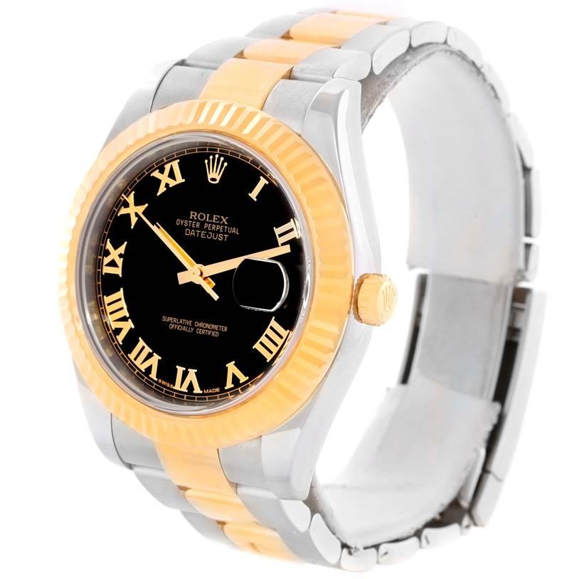 Rolex Datejust II Mens Steel 18K Yellow Gold Watch 116333 Box Papers SwissWatchExpo