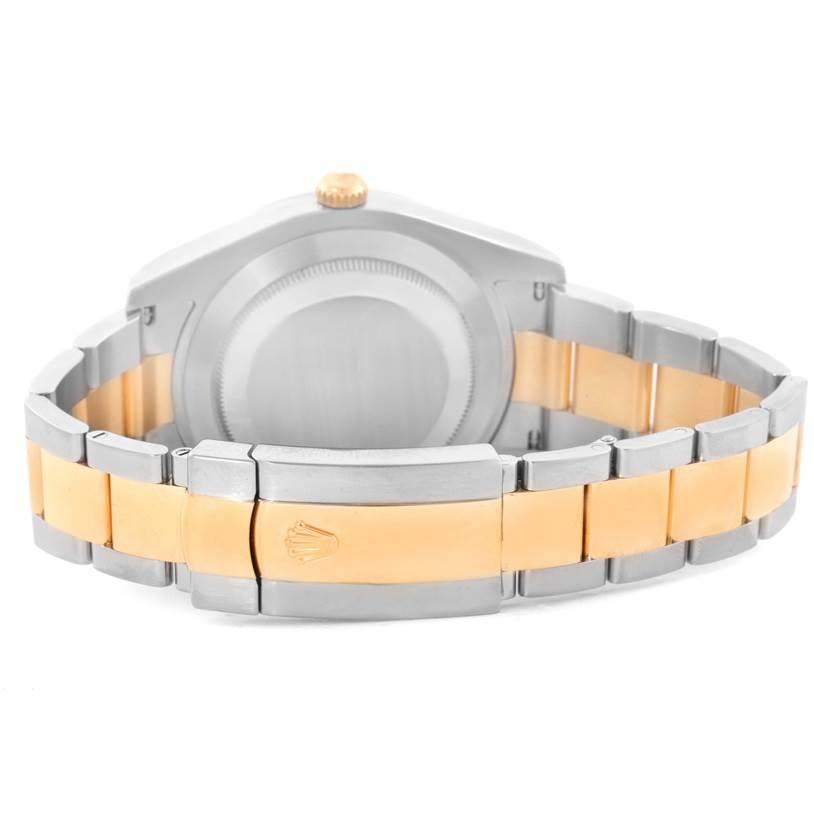 Rolex Datejust II Steel 18K Yellow Gold Grey green Roman Watch 116333GYRO SwissWatchExpo