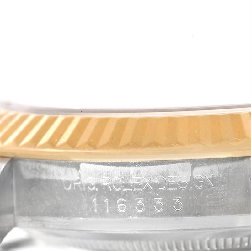 Rolex Datejust II Steel 18K Yellow Gold Oyster Bracelet Watch 116333CSO SwissWatchExpo