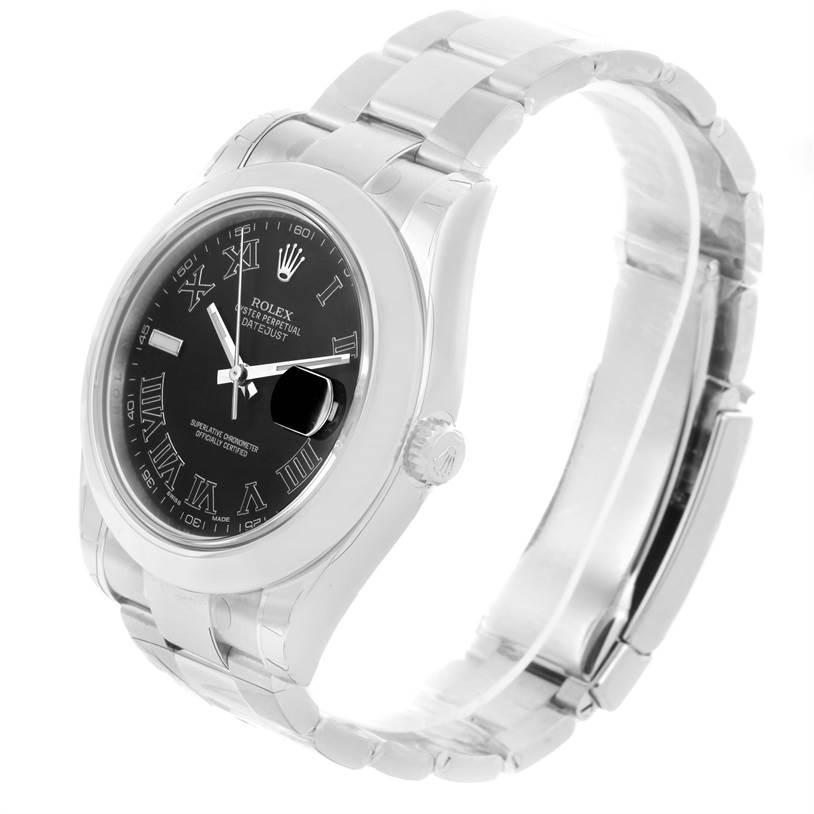 Rolex Datejust II Gray Roman Dial Mens Steel Watch 116300 Unworn SwissWatchExpo