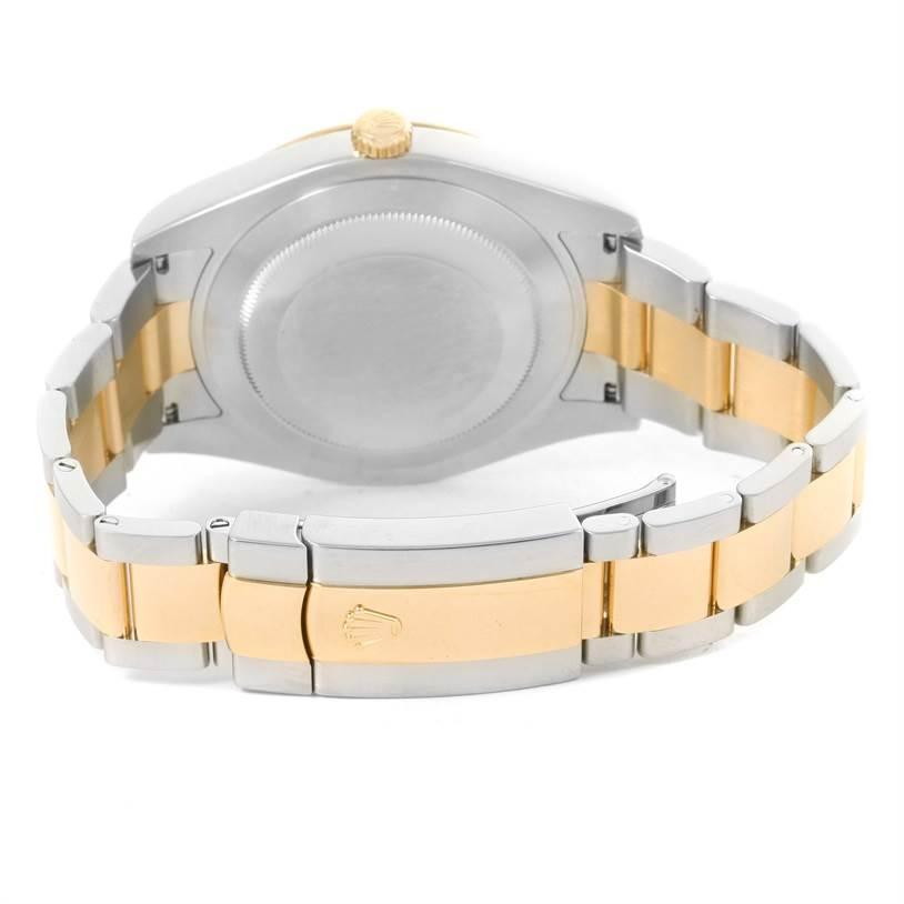 Rolex Datejust II Mens Steel 18K Yellow Gold Gray Dial Watch 116333 SwissWatchExpo