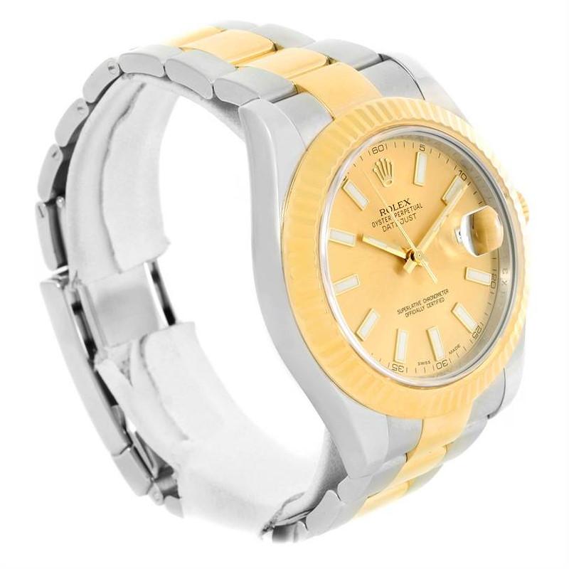 Rolex Datejust II Steel Yellow Gold Oyster Bracelet Watch 116333 Box Card SwissWatchExpo