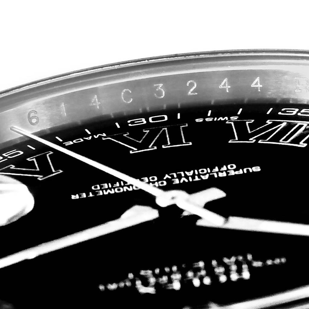 Rolex Datejust II Grey Roman Dial Mens Steel Watch 116300 SwissWatchExpo