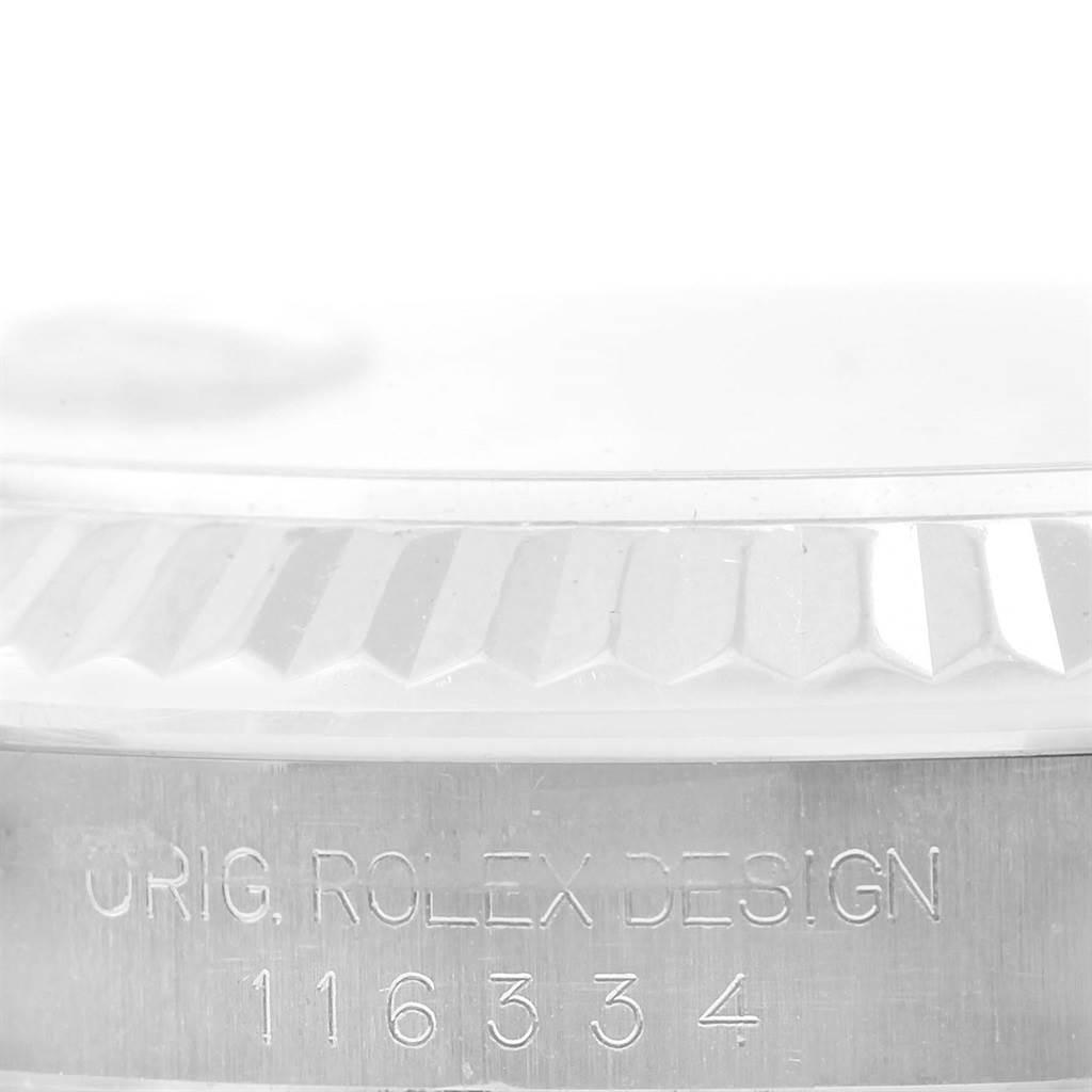 Rolex Datejust II Mens Steel 18K White Gold Blue Dial Watch 116334 SwissWatchExpo