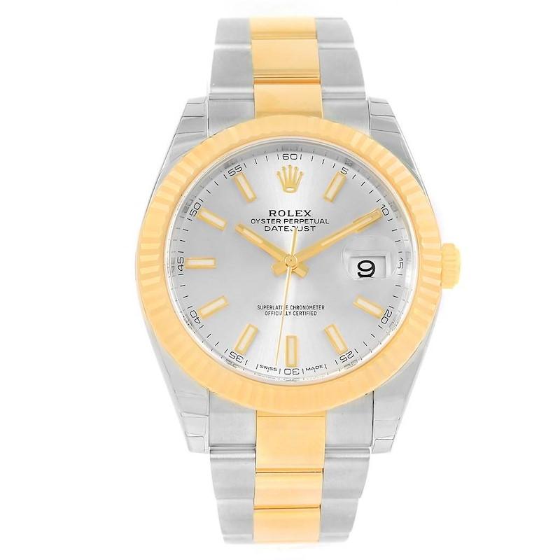 Rolex Datejust 41 Steel 18K Yellow Gold Silver Dial Watch 126333 Unworn SwissWatchExpo