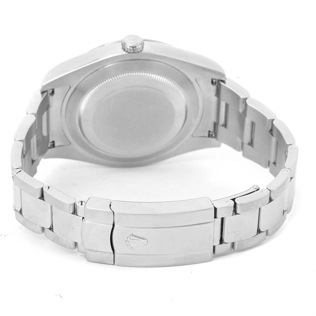 Rolex Datejust II Steel White Gold Black Dial Watch 116334 Box Papers SwissWatchExpo