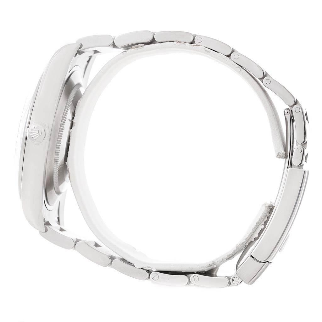 Rolex Datejust II White Baton Dial Steel Mens Watch 116300 Unworn SwissWatchExpo