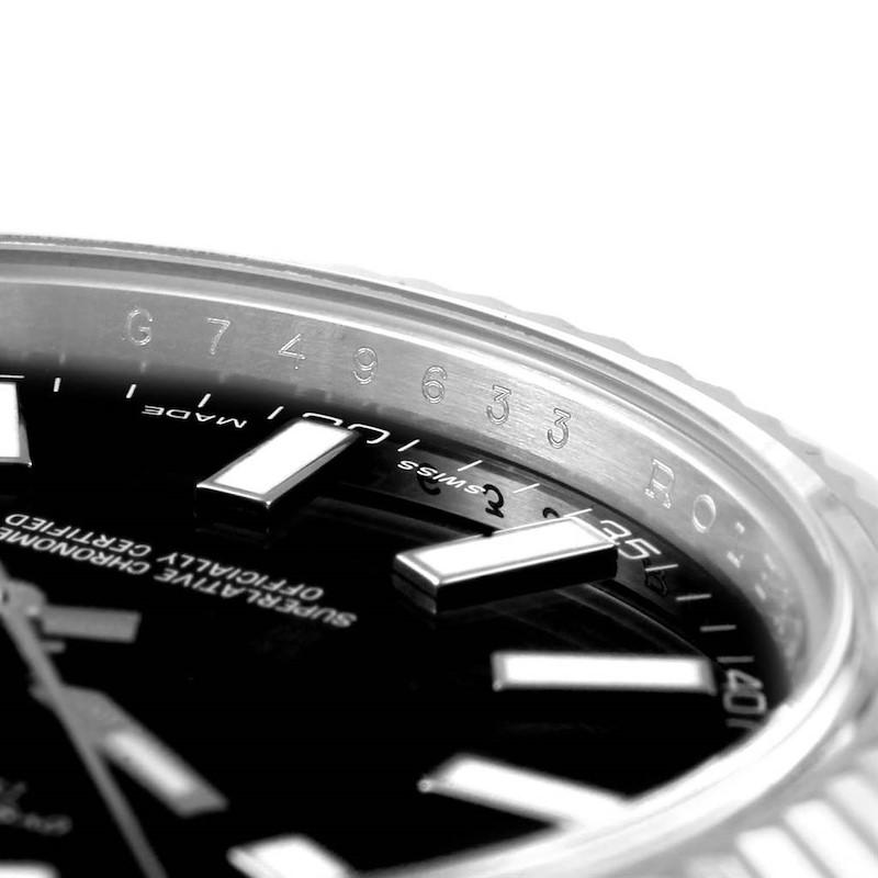 Rolex Datejust II Steel White Gold Black Baton Dial Watch 116334 SwissWatchExpo