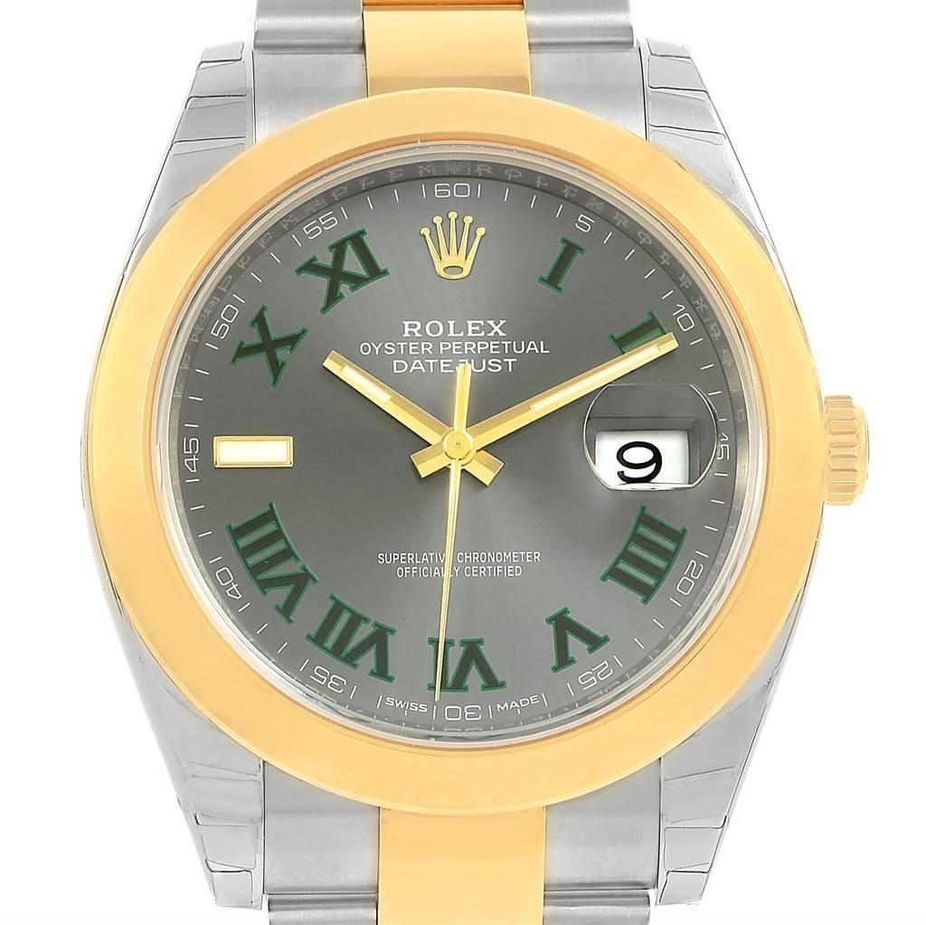 Rolex Datejust 41 Steel 18K Yellow Gold White Dial Watch 126303 Unworn SwissWatchExpo