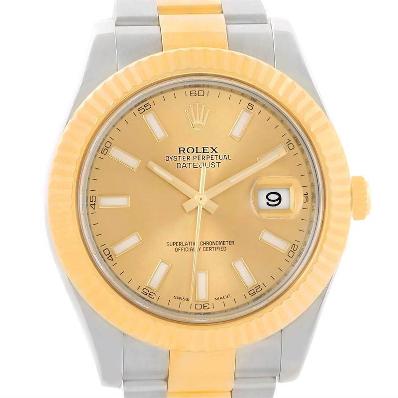 Rolex Datejust 41 Steel 18K Yellow Gold Watch 126333 Box Papers SwissWatchExpo