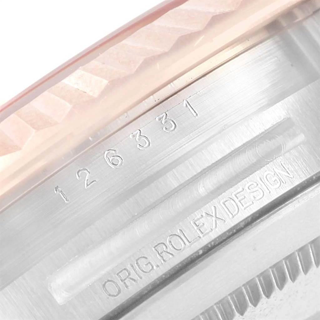 Rolex Datejust 41 Pink Dial Steel EveRose Gold Mens Watch 126331 SwissWatchExpo