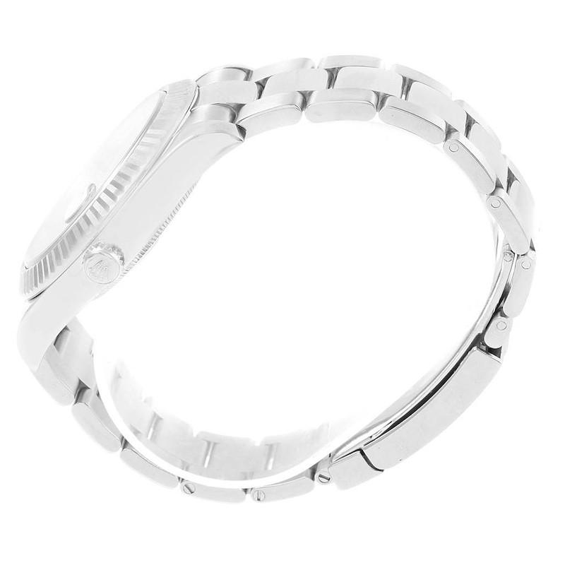 Rolex Datejust II 41mm Steel White Gold Blue Roman Dial Watch 116334 SwissWatchExpo