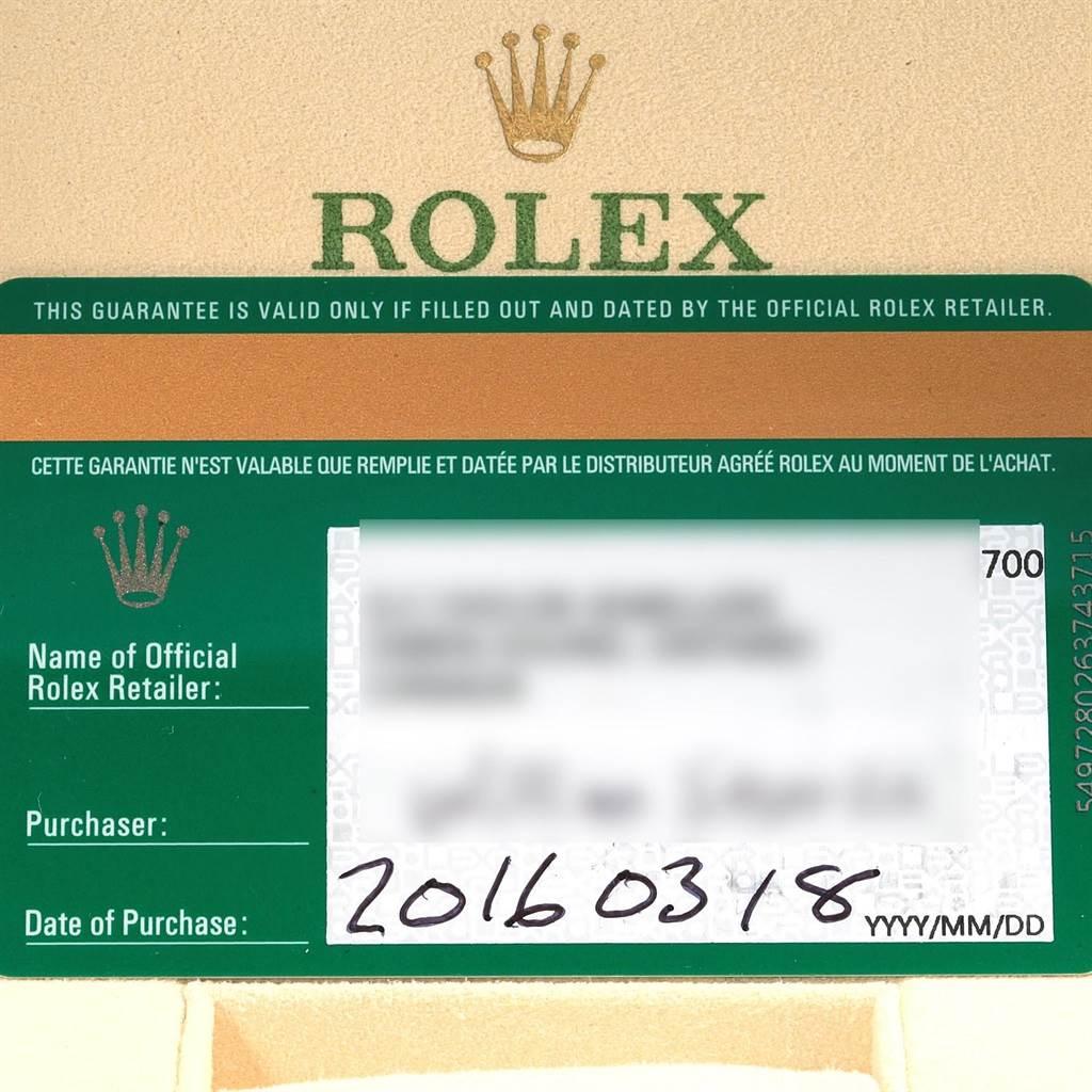 Rolex Datejust II Steel White Gold Diamond Dial Watch 116334 Box Papers SwissWatchExpo