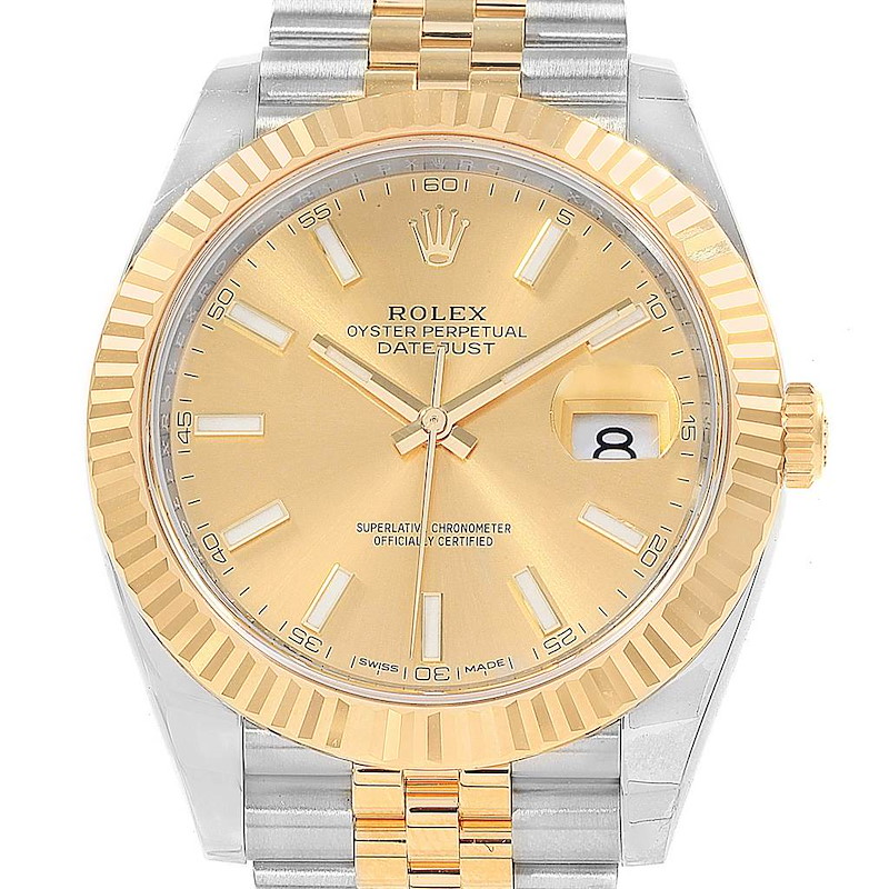 Rolex Datejust 41 Steel Yellow Gold Jubilee Bracelet Watch 126333 Unworn SwissWatchExpo