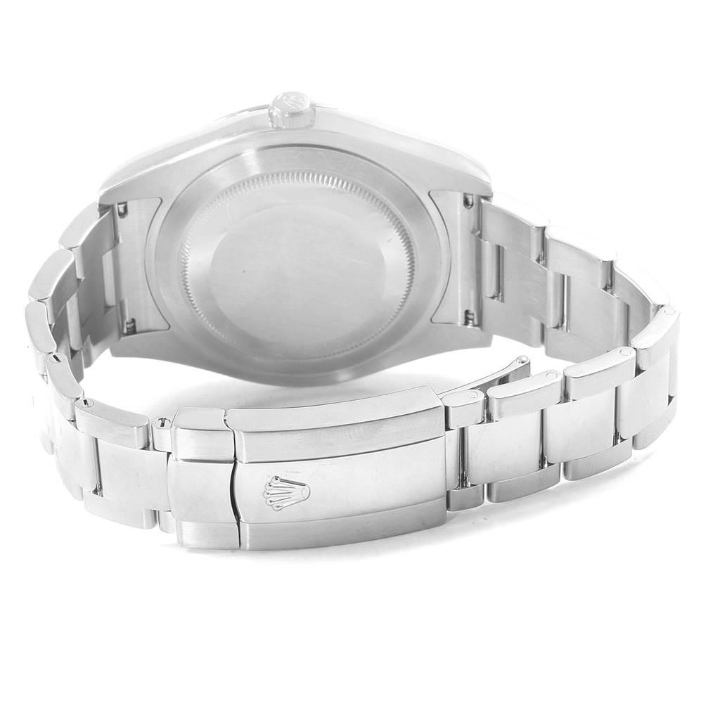Rolex Datejust II Steel White Gold Black Dial Mens Watch 116334 Box SwissWatchExpo