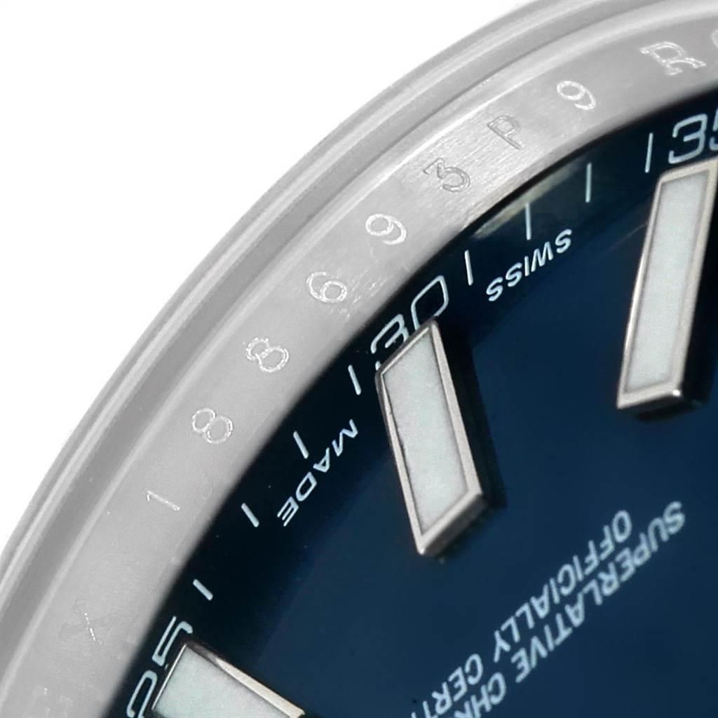 Rolex Datejust II 41mm Blue Dial Automatic Steel Mens Watch 116300 SwissWatchExpo