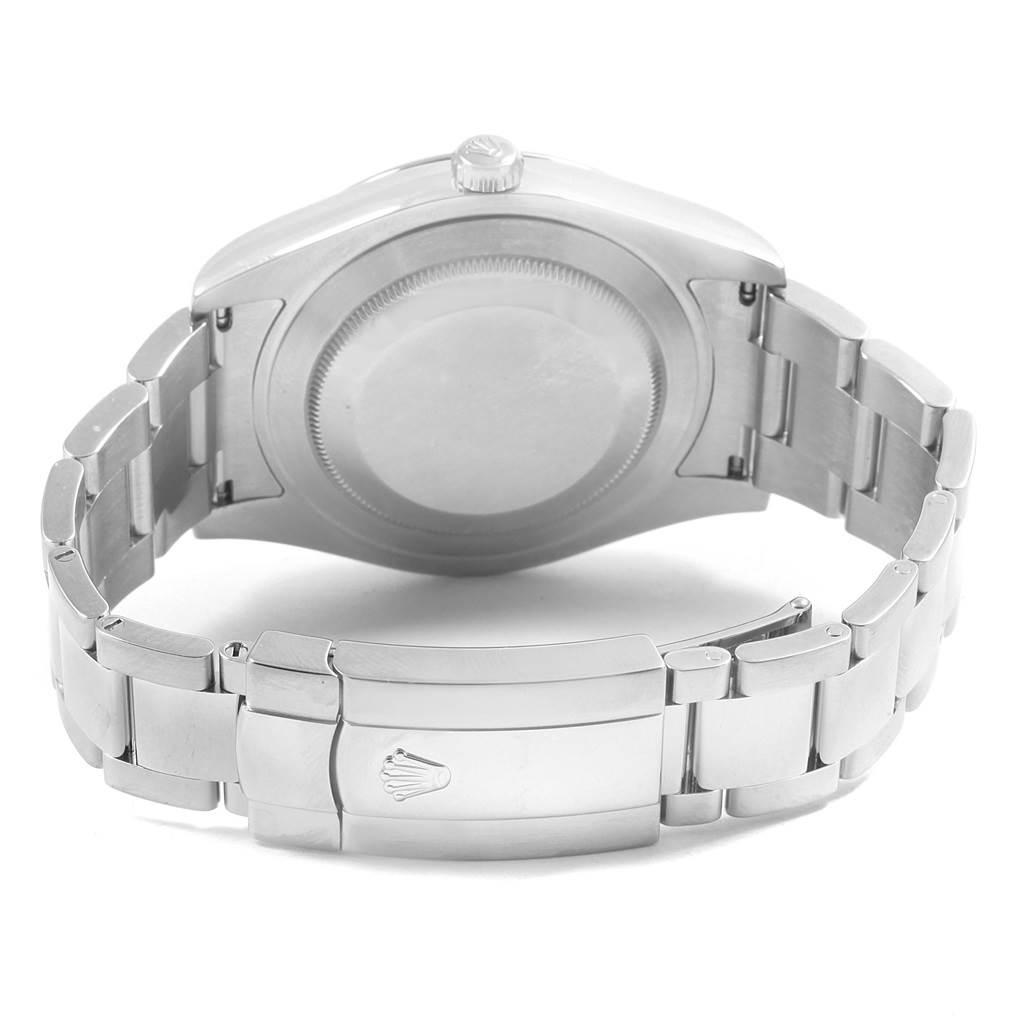 Rolex Datejust II Silver Arabic Dial Steel Mens Watch 116300 SwissWatchExpo
