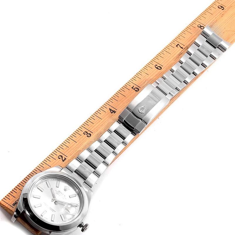 Rolex Datejust II Silver Dial Domed Bezel Steel Mens Watch 116300 SwissWatchExpo