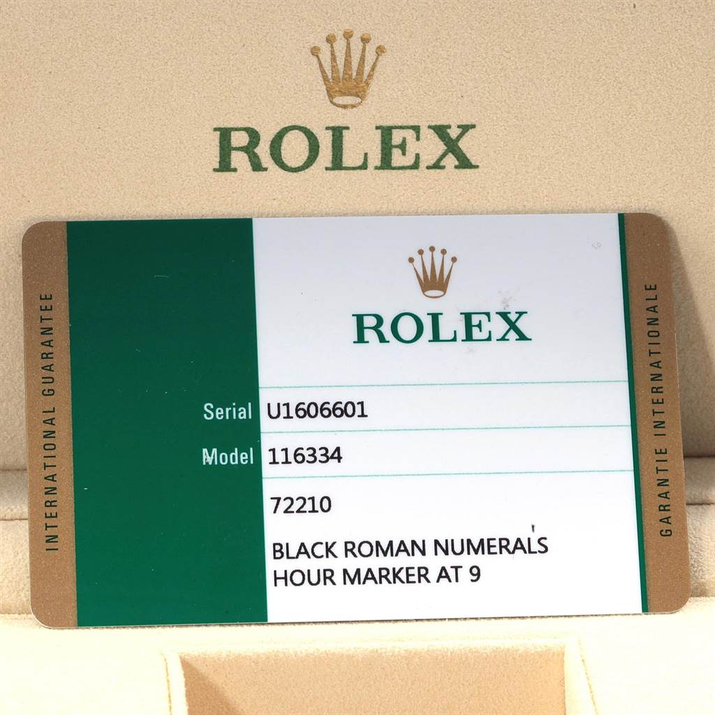 19238 Rolex Datejust II Steel White Gold Grey Dial Mens Watch 116334 Box Card SwissWatchExpo