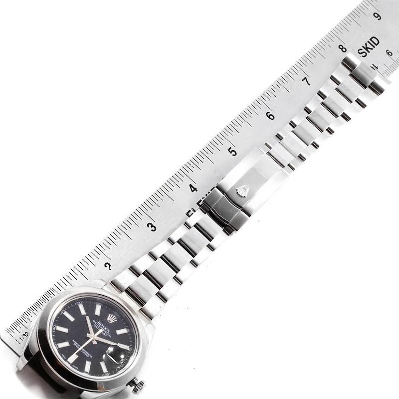 Rolex Datejust II 41mm Black Dial Steel Mens Watch 116300 Box Card SwissWatchExpo