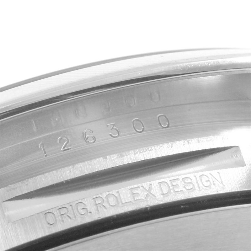 Rolex Datejust 41 Blue Baton Dial Stainless Steel Mens Watch 126300 SwissWatchExpo