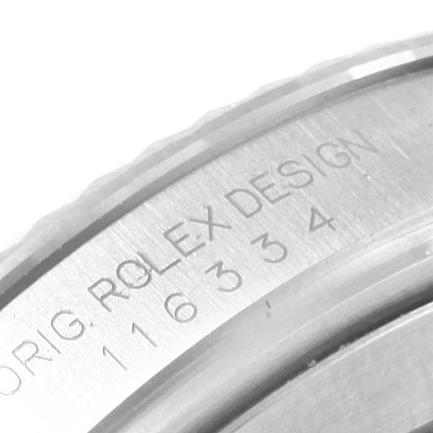 Rolex Datejust II Steel White Gold Blue Dial Mens Watch 116334 Box SwissWatchExpo
