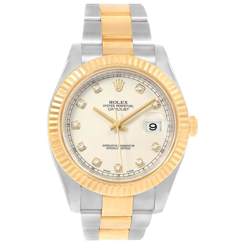 Rolex Datejust II Steel Yellow Gold Diamond Watch 116333 Box Papers PARTIAL PAYMENT LISTING ONLY SwissWatchExpo