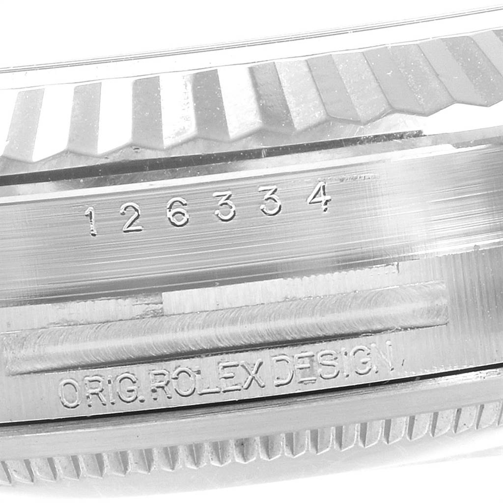 Rolex Datejust 41 Steel White Gold Rhodium Dial Mens Watch 126334 SwissWatchExpo