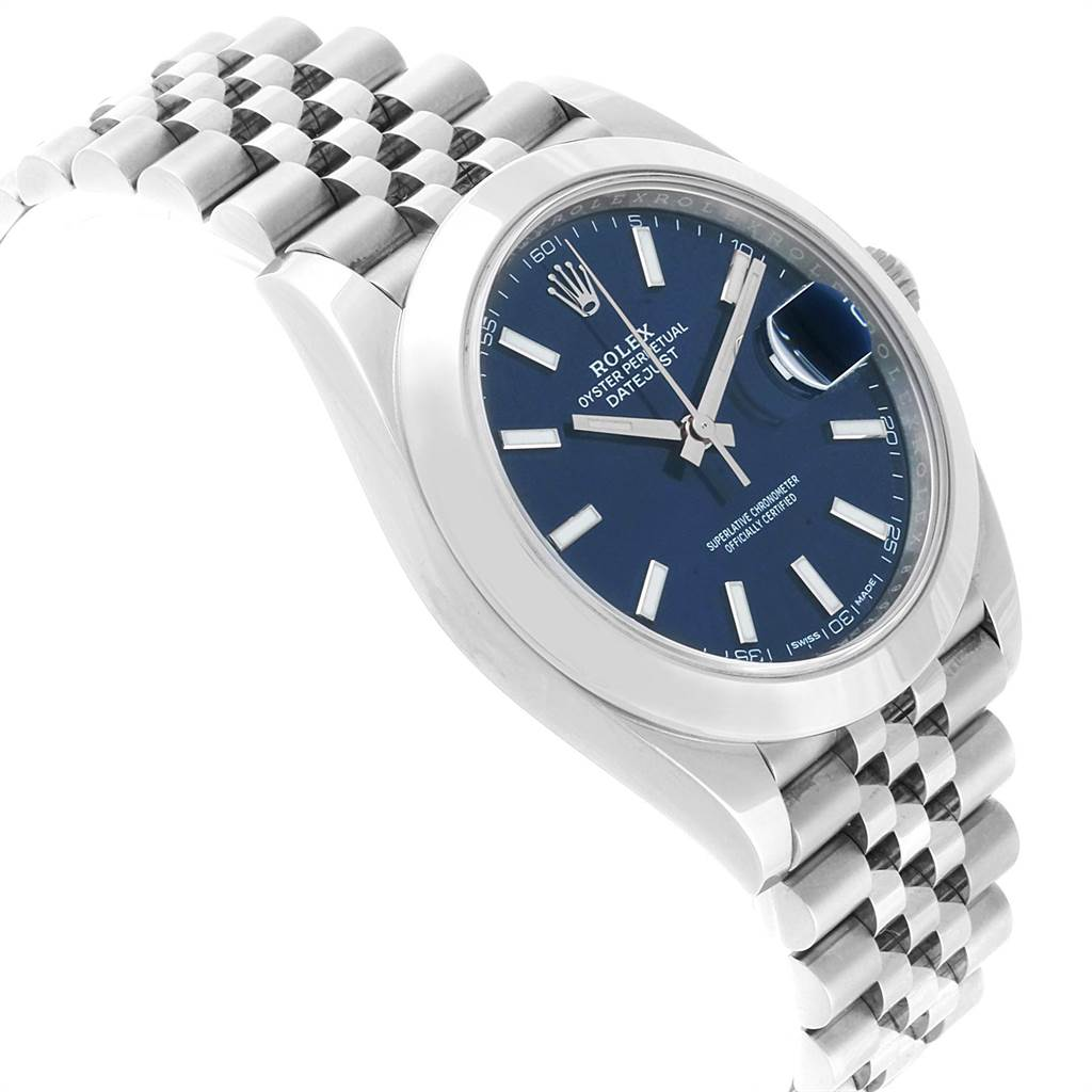Rolex Datejust 41 Blue Dial Jubilee Bracelet Steel Mens Watch 126300 SwissWatchExpo
