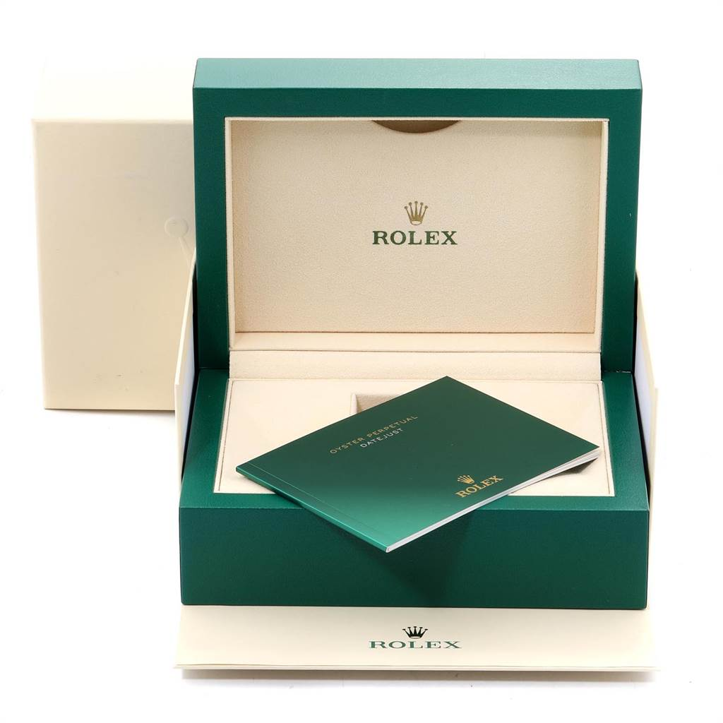 Rolex Datejust II 41 Steel White Gold Blue Dial Watch 116334 Box Card SwissWatchExpo