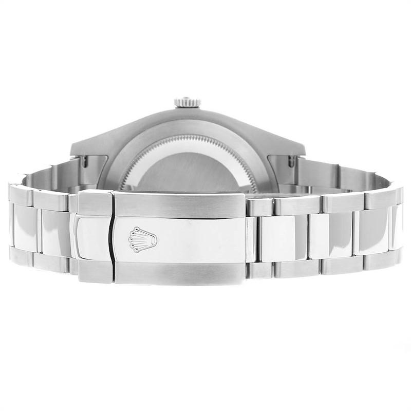 Rolex Datejust II 41 Steel White Gold Blue Dial Watch 116334 Box Card SwissWatchExpo