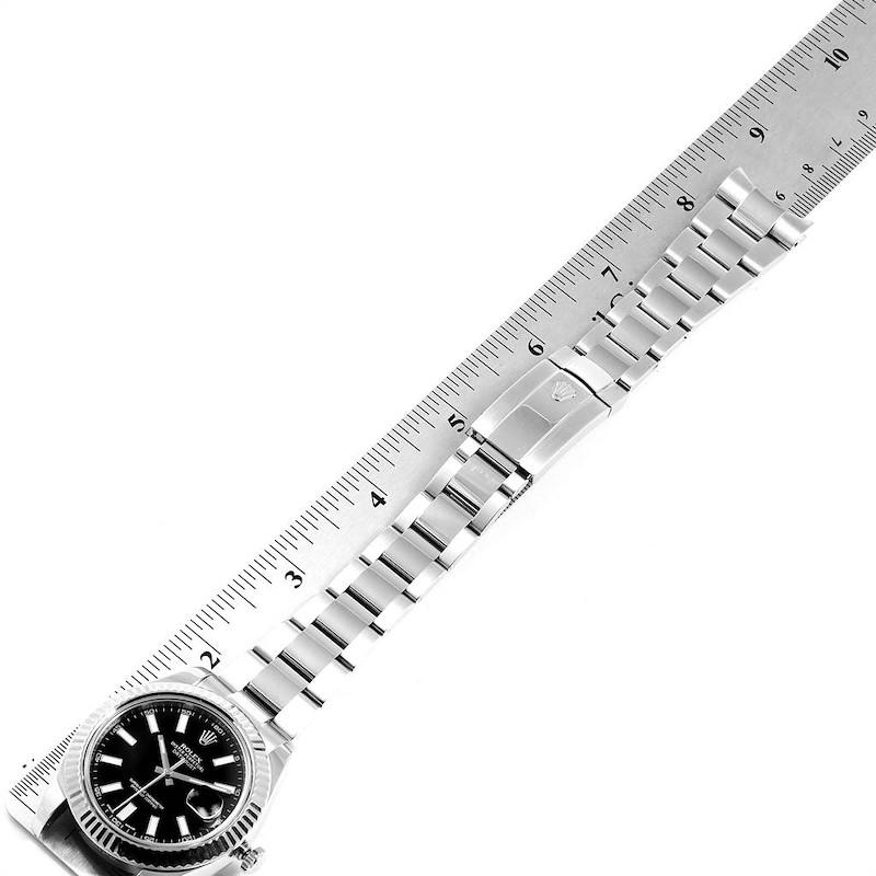 Rolex Datejust II 41mm Steel White Gold Mens Watch 116334 Box Card SwissWatchExpo