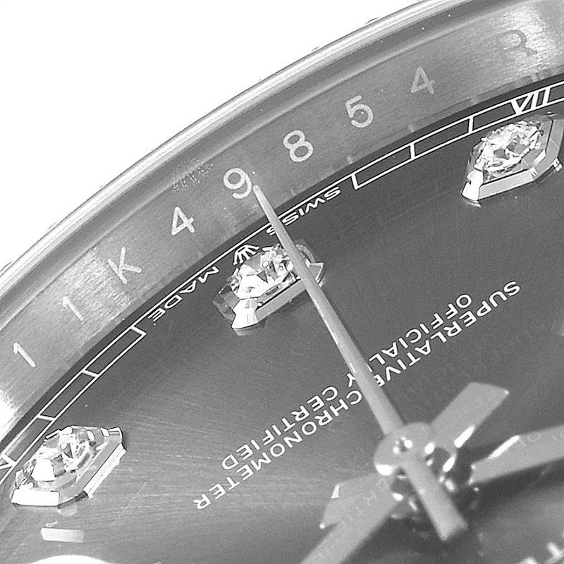 Rolex Datejust 41 Steel White Gold Diamond Mens Watch 126334 Unworn SwissWatchExpo