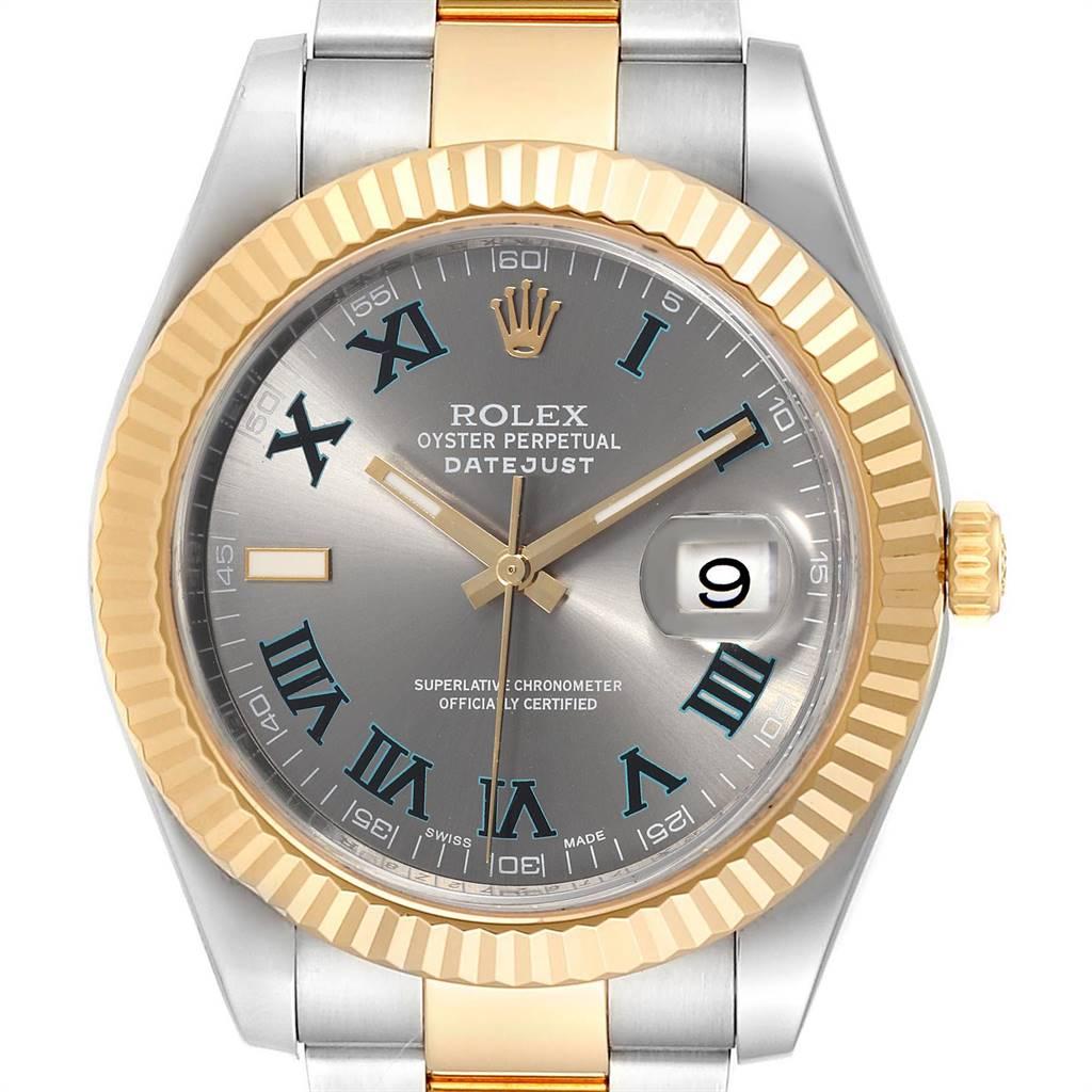 Rolex Datejust II Steel Yellow Gold Mens Watch 116333 Box Card SwissWatchExpo