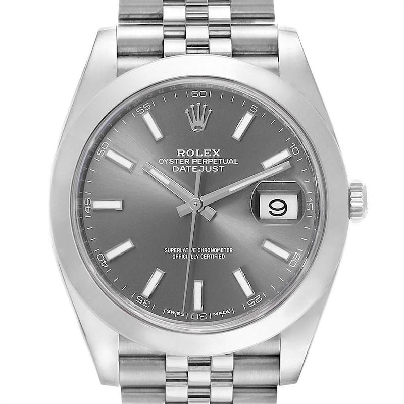 Rolex Datejust 41 Jubilee Bracelet Steel Mens Watch 126300 Box Card SwissWatchExpo