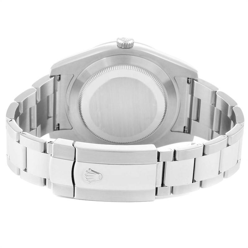 Rolex Datejust II 41 Steel White Gold Silver Dial Watch 116334 Box Card SwissWatchExpo