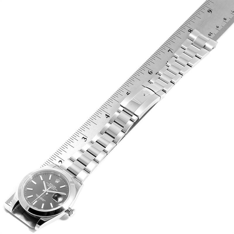Rolex Datejust 41 Black Dial Steel Mens Watch 126300 Box Card SwissWatchExpo