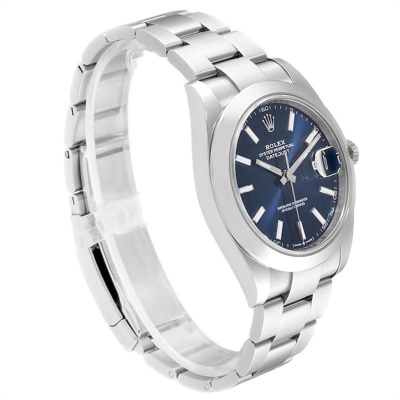 Rolex Datejust 41 Blue Dial Steel Mens Watch 126300 Box Card SwissWatchExpo