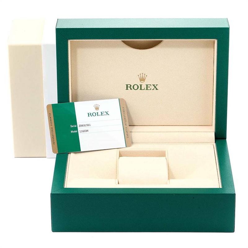 Rolex Datejust II 41mm Steel White Gold Blue Dial Mens Watch 116334 Unworn SwissWatchExpo