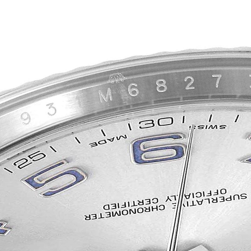 Rolex Datejust II 41mm Steel White Gold Blue Numerals Mens Watch 116334 SwissWatchExpo