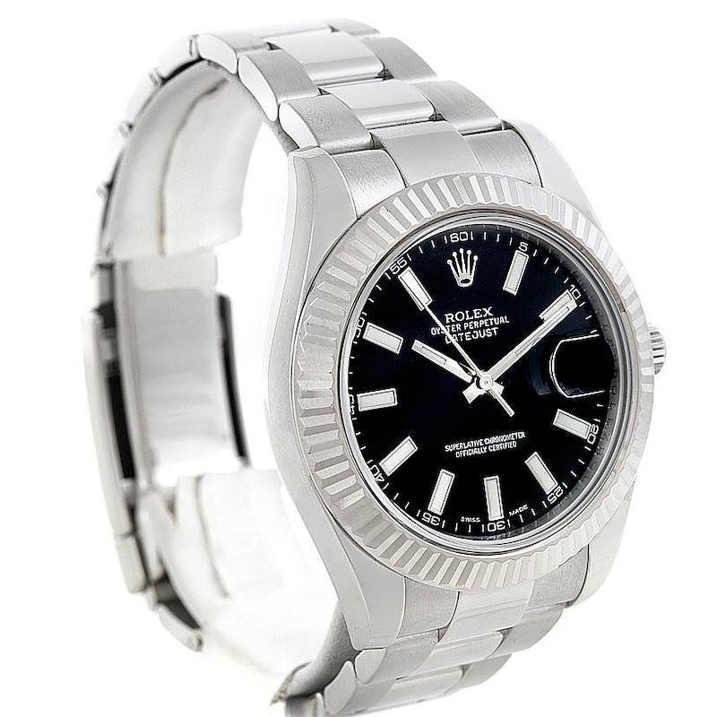 Rolex Datejust II Mens Steel 18K White Gold Watch 116334 SwissWatchExpo