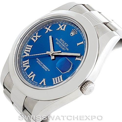Rolex Datejust II Mens Steel Watch 116300 SwissWatchExpo