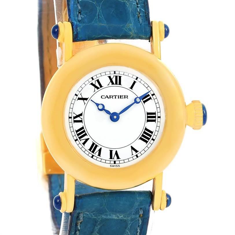 12927 Cartier Diabolo 18K Yellow Gold Small Quartz Ladies Watch 1400 SwissWatchExpo