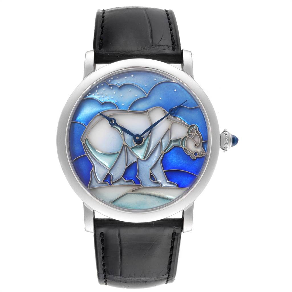 Cartier Rotonde White Gold Polar Bear Limited 40 Pieces Watch HPI00540 SwissWatchExpo