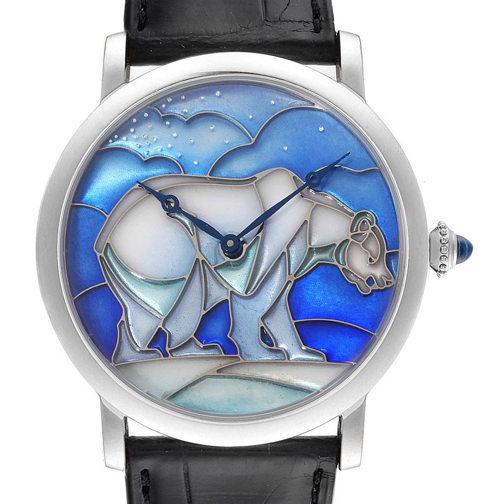 3788X Cartier Rotonde White Gold Polar Bear Limited 40 Pieces Watch HPI00540 SwissWatchExpo