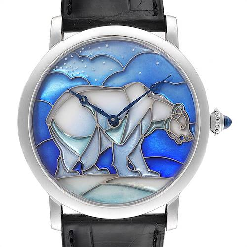 Photo of Cartier Rotonde White Gold Polar Bear Limited 40 Pieces Watch HPI00540