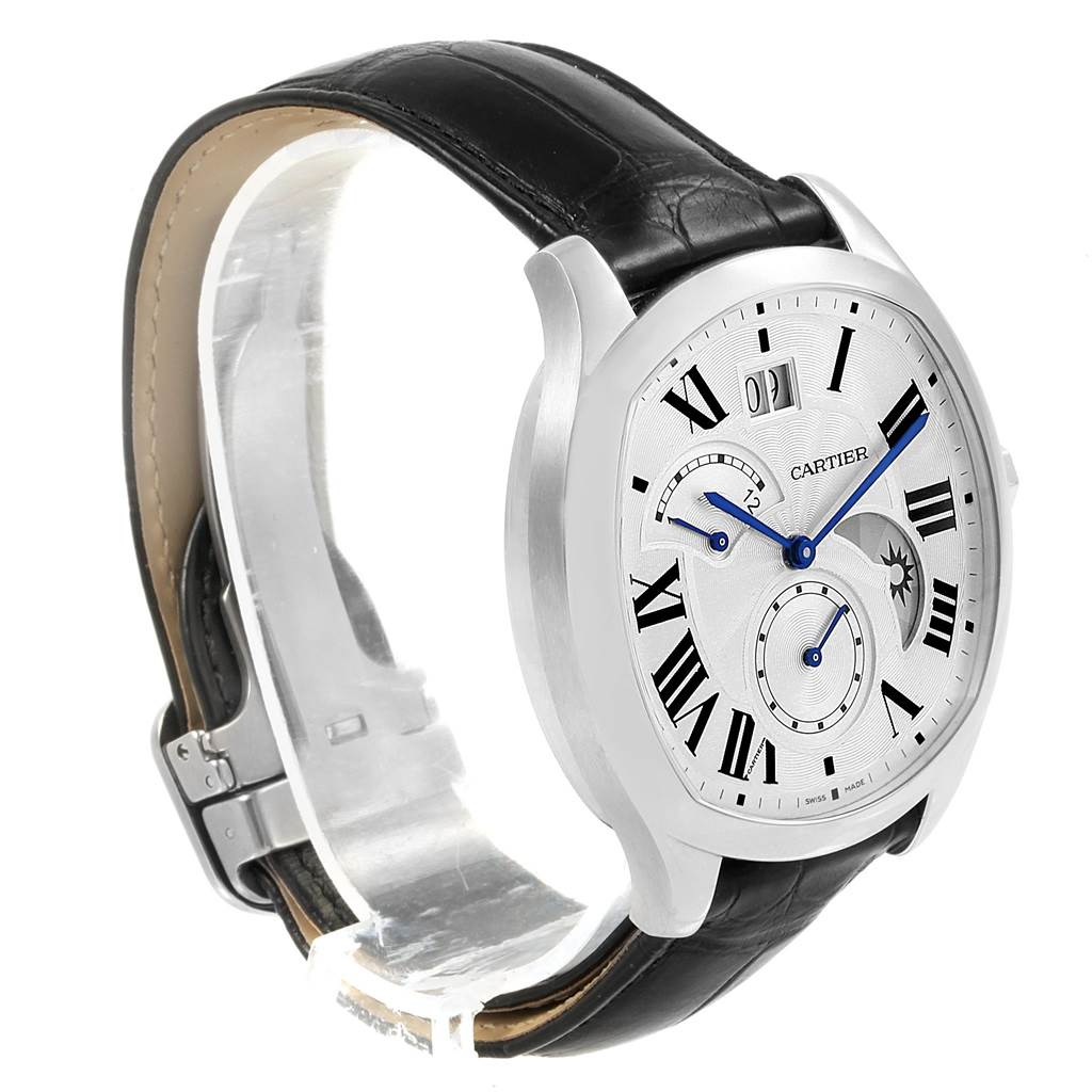 18051 Cartier Drive Second Time Zone Steel Mens Watch WSNM0005 Box Papers SwissWatchExpo